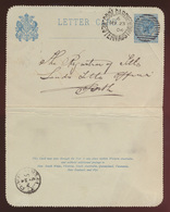 Gold Westaustralien Coolgardie Ganzsache Kartenbrief 2p Blau Western Australia  - Australien