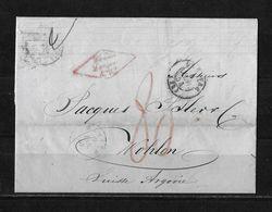 1854 HAVRE → BoM Brief Ohne Marke, Frachtbrief Von Havre (mit Firmenstempel) Nach Wohlen - ...-1845 Prephilately