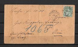 1862-1881 Sitzende Helvetia (gezähnt) → 1881 ESCHENBACH (Briefumschlag)   ►SBK-40 / Weisses Papier◄ - 1862-1881 Sitted Helvetia (perforates)