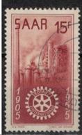 SARRE       N°  YVERT  :  340  ( 1 )    OBLITERE       ( Ob   7/ 45  ) - Usados