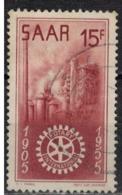 SARRE       N°  YVERT  :  340  ( 3 )    OBLITERE       ( Ob   7/ 45  ) - Usados