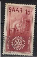 SARRE       N°  YVERT  :  340  ( 4 )    OBLITERE       ( Ob   7/ 45  ) - Usados