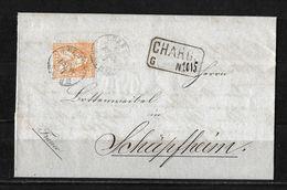 1862-1881 Sitzende Helvetia (gezähnt) → 1866 Charge-Brief LUZERN (Gloggner, Hartmann & Comp.) Franco Nach Schüpfheim - 1862-1881 Sitted Helvetia (perforates)