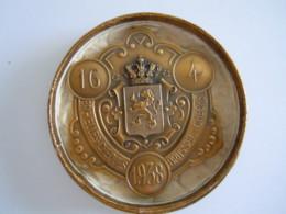 België Belgique Medaille 1938 25 Jaar Bestuur Der Postcheques Brussel Bruxelles Office Des Cheques Posteaux Anniversaire - Professionnels / De Société