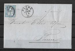 1862-1881 Sitzende Helvetia (gezähnt) → 1867 Faltbrief Basel (Gebrüder Stähelin) Nach Thun - 1862-1881 Sitted Helvetia (perforates)