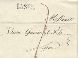 1807- Enveloppe De BASEL  Taxe 7 D. Pour Lyon - - ...-1845 Prephilately