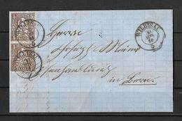 1862-1881 Sitzende Helvetia (gezähnt) → 1866 Faltbrief Hergiswil Bei WILLISAU (Johann Brigger)  Nach Luzern - 1862-1881 Sitted Helvetia (perforates)