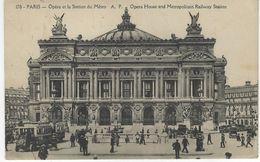 75 ( Paris ) - PARIS - Opera Et La Station De Metro - Opera House And Metropolitain Railway Station - Francia
