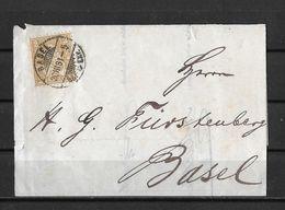 1862-1881 Sitzende Helvetia (gezähnt) → 1881 Brieffragment BASEL (A. Merkle) Vororts-Sache   ►SBK-37◄ - 1862-1881 Sitted Helvetia (perforates)