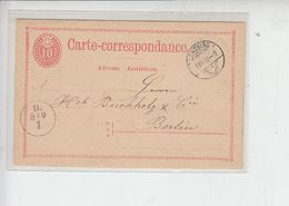 SVIZZERA  1873 - Carte -corrispondance  To Berlin - Stamped Stationery