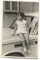VINTAGE OLD PHOTO FIAT CAR AUTO CHILD, FORMAT PC - Cars