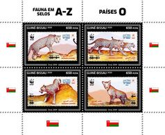 GUINEA BISSAU 2020 - Leopards, Fauna On Stamps O, Official Issue - Felinos