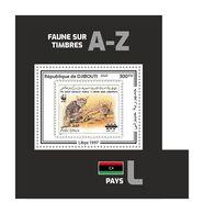 DJIBOUTI 2020 - Fauna, Libya: Wild Cats. Official Issue. - Felinos