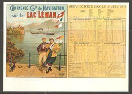 Carte P ( Compagnie De Navigation Sur Le Lac Léman ) - GE Ginevra