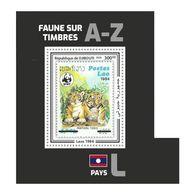 DJIBOUTI 2020 - Fauna, Laos: Tigers. Official Issue. - Felinos