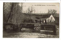 CPA- Carte Postale-France-Sainte-Sévère- Le Pont Romain -1932  VM18876 - La Chatre