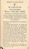 Pamel, Ninove, 1955, Achiel VAn Der Veken, Nuyts - Images Religieuses