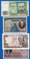 Espagne  4  Billets - [ 2] 1931-1936 : Repubblica