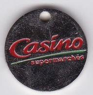 Jeton De Caddie En Métal - Casino - Supermarché - Grande Surface - Les Taxis Ont Du Coeur - Jetons De Caddies