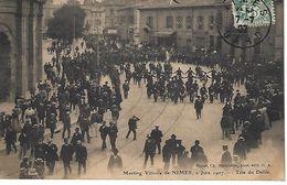 CPA30- NIMES- Meeting Viticole De Nimes 2 Juin 1907- Tête Du Défilé - Nîmes