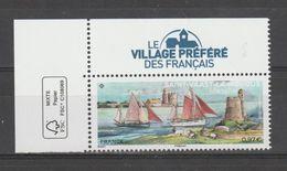 """FRANCE / 2020 / Y&T N° 5412 ? ** : """"Village Préféré Des Français"""" (Saint Vaast La Hougue - Manche) X 1 + Vignette CdFFSC - Francia"""