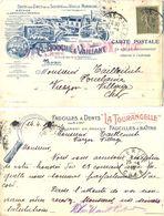 CP ILLUSTRÉE : FAUCILLES À DENTS LA TOURANGELLE – A. BOUCHÉ & VAILLANT TOURS INDRE-ET-LOIRE TàD 24-4-18 - 1877-1920: Periodo Semi Moderno