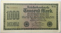 Billete Alemania. 1922. 1000 Marcos. República De Weimar. MBC - [ 3] 1918-1933 : Repubblica  Di Weimar