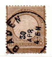 Allemagne / N 11 / 18 Kreuzer Bistre / Oblitéré - Amincissement Haut Du Timbre - Usati