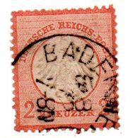 Allemagne / N 8 / 2 Kreuzer Orange / Oblitéré - Légers Amincissements - Usati