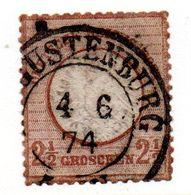 Allemagne / N 18 / 2 1/2 Groschen Brun / Oblitéré Avec Charnière - Gebraucht