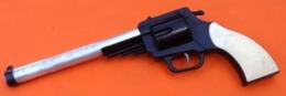 Jouet Mécanique Vintage Pistolet à Bouchon Plastique / Aluminium Marque : G.R.G Longueur : 330mm - Antikspielzeug