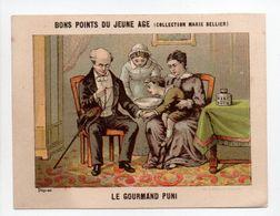 - CHROMO BONS POINTS DU JEUNE AGE - COLLECTION MARIE BELLIER - LE GOURMAND PUNI - - Trade Cards