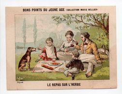 - CHROMO BONS POINTS DU JEUNE AGE - COLLECTION MARIE BELLIER - LE REPAS SUR L'HERBE - - Trade Cards