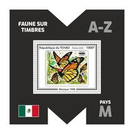 CHAD 2020 - Fauna, Mexico: Butterflies. Official Issue. - Schmetterlinge