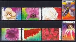 2017 Cuba Flowers Fleurs Complete Set Of 8 MNH - Unused Stamps