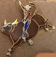RODEO USA - TAUREAU BRUN - COW BOY - EGF - (26) - Animales