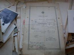 Uverenje Beograd Ministar Prosvete I Crkvenih Poslova  Signatures 1909 - Documenti Storici