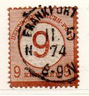 Allemagne / N 29 / 9 Sur 9 K Brun  / Oblitéré / Côte 500 € - Gebraucht