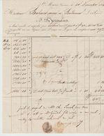 Ht RHIN : DAGERMANN, Filatures, Tissus, Cotonnades Ste Marie Aux Mines / Fact De 1833, Bonne Dat - Textile & Vestimentaire