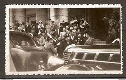 PHOTO ORIGINALE - RENAULT LIMOUSINE FAMILIALE 6 GLACES NOVAQUATRE Et RENAULT VIVAQUATRE 1938 - MARIAGE MARIEE - Cars