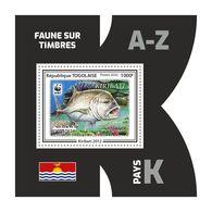 TOGO 2020 - Fauna, Kiribati: Fish. Official Issue. - Fishes