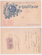 A. GUASTALLA - Premiata Fabbrica Di Mobili E Sedie, Fattura Firenze Del 1919, Facture, Florence, Invoice Lire 100 - Italie