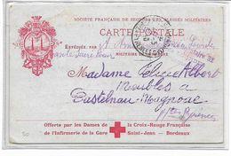WW1-1916 Rare Carte Illustrèe CROIX ROUGE -MILITAIRE EN CAMPAGNE -HOPITAL COMPLEMENTAIRE  DE LOURDES- - Marcophilie (Lettres)