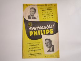 Dario MORENO-Jean MARTINON - Disques PHILIPS - Supplément N°16 De Février 1954 - Les Derniers Disques Parus - Musica & Strumenti