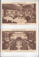 Marine Commerce / Lot De 2 / Messageries Maritimes / Jean Laborde / Salle à Manger 1ère Classe, Pas-perdu - Handel