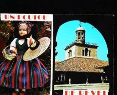 Carte Postale -  Poupée Doll   Un Poutou De Revel - Poupées