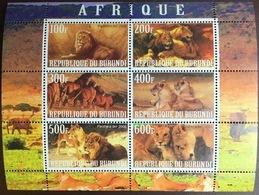 Burundi 2009 Cinderella Lions Sheetlet MNH - Felinos