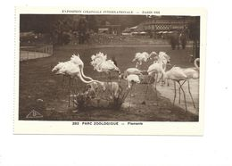 CPSM Flamants Exposition Coloniale 1931 Parc Zoo TB 2 Scans - Exhibitions
