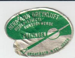 Adhesive Sticker - Label - Hermann Dreykluft - Gottingen - Bilder Spiegel Kunstgewerbe - 35/26 Mm - Vignettes Autocollantes