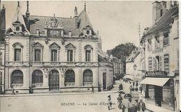 Carte Postale Ancienne De Beaune La Caisse D'épargne - Beaune